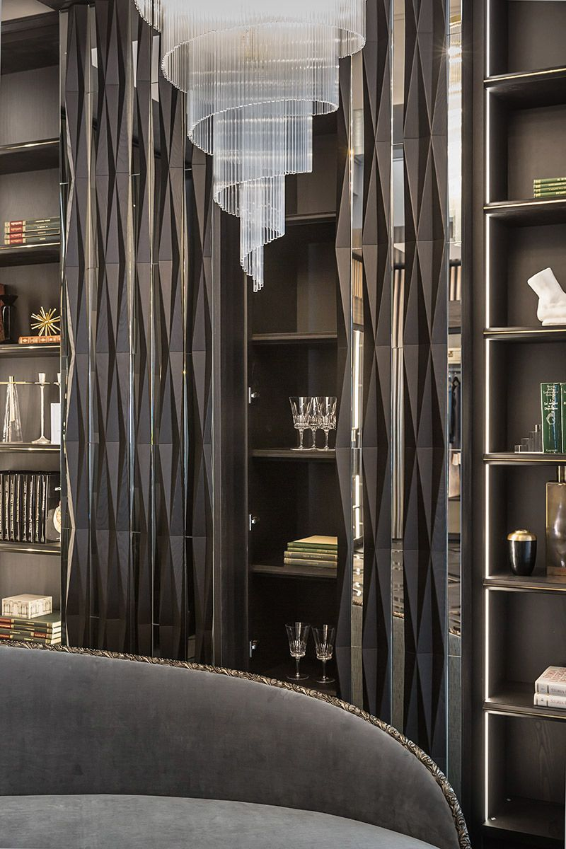 inspiration wall unit luxury deluxe living room   Zonta   Salone del Mobile 2017 on Behance in 2019 ...
