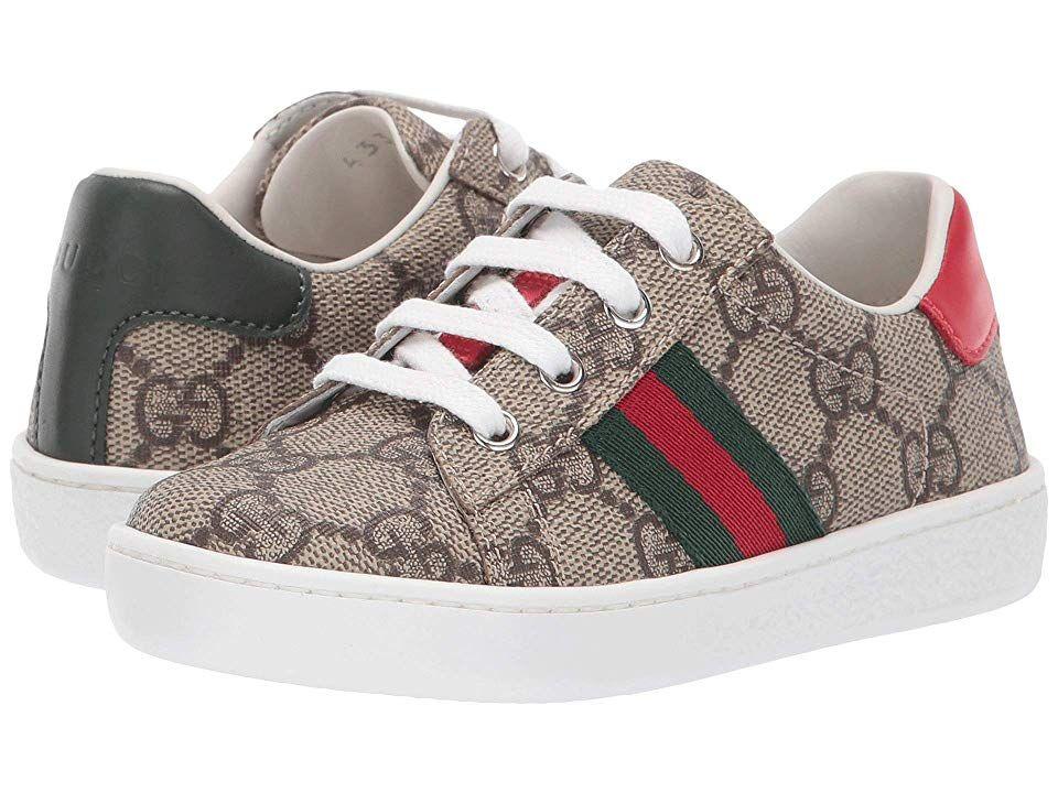 klassische Passform beste Qualität neueste Gucci Kids GG Supreme Low-Top Sneaker (Toddler) Kids Shoes Beige ...