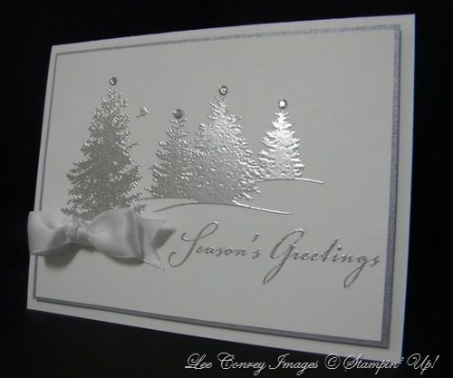 Scenic Season in White and Silver embossing - bjl
