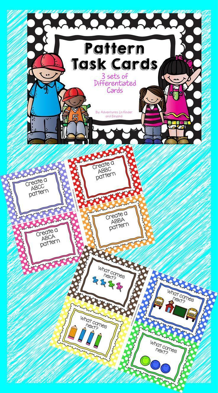 Pattern Task Cards | Math manipulatives, Maths and Worksheets