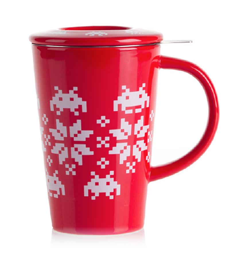 Space Invaders and Snowflakes Tea Mug Mugs, Tea mugs