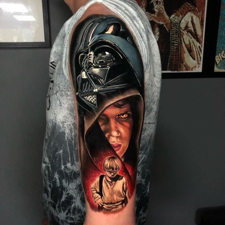 Star Wars Tattoo By Alex Rattray Tattoo Tattoos Tattooideas Tattoodesigns Star Wars Tattoo Sleeve Star Wars Tattoo War Tattoo,Best Tattoo Designs For Men Small