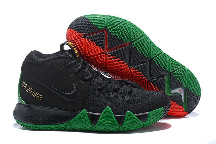 "2018 Nike Kyrie 4 ""BHM"" Black/Green/Red"