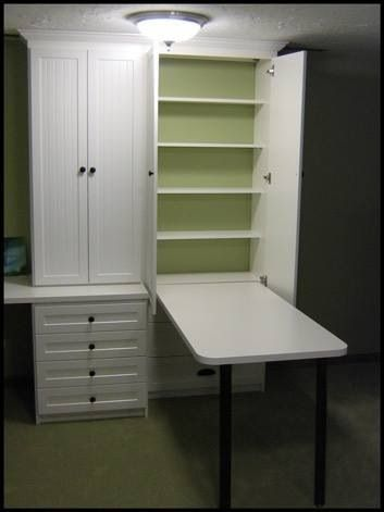 Desk In A Cupboard Craft Room Office Craft Room Storage Sewing Rooms