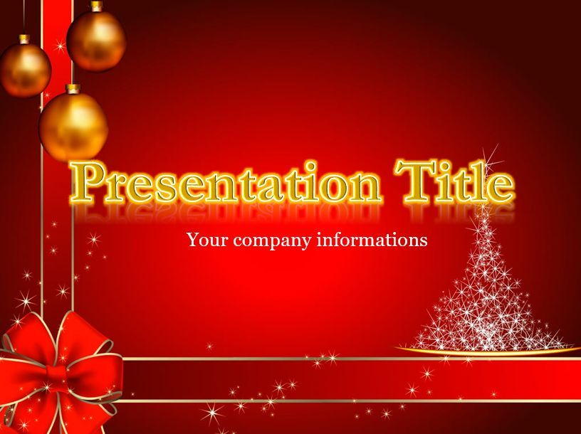 Powerpoint Template For New Year Presentations With Gold Letters Powerpoint