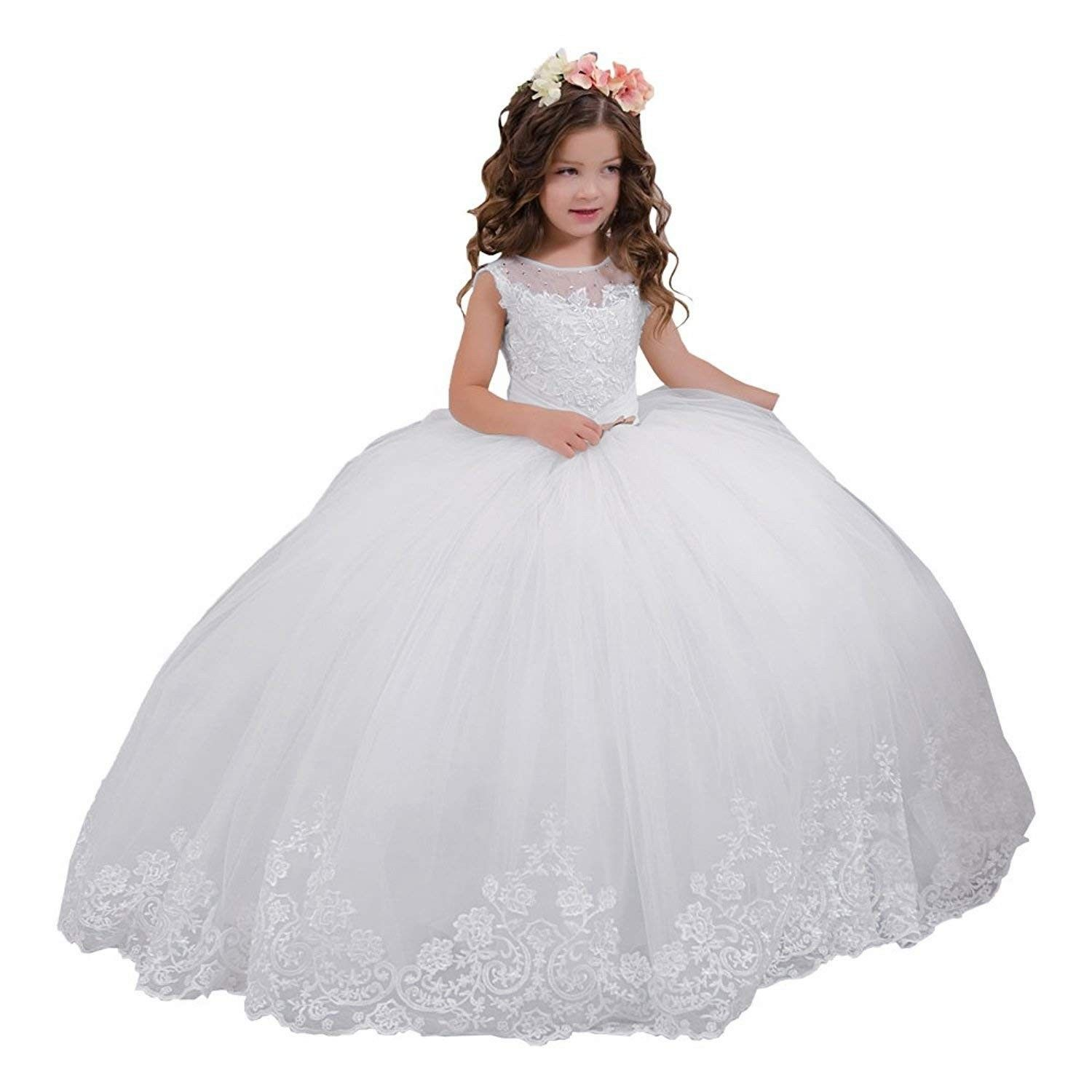 Vintage Lace Embellished Girls Communion Dresses 2 12 Year Old White C718dyh0itg Prom Girl Dresses Wedding Dresses For Kids Girls Communion Dresses [ 1500 x 1500 Pixel ]
