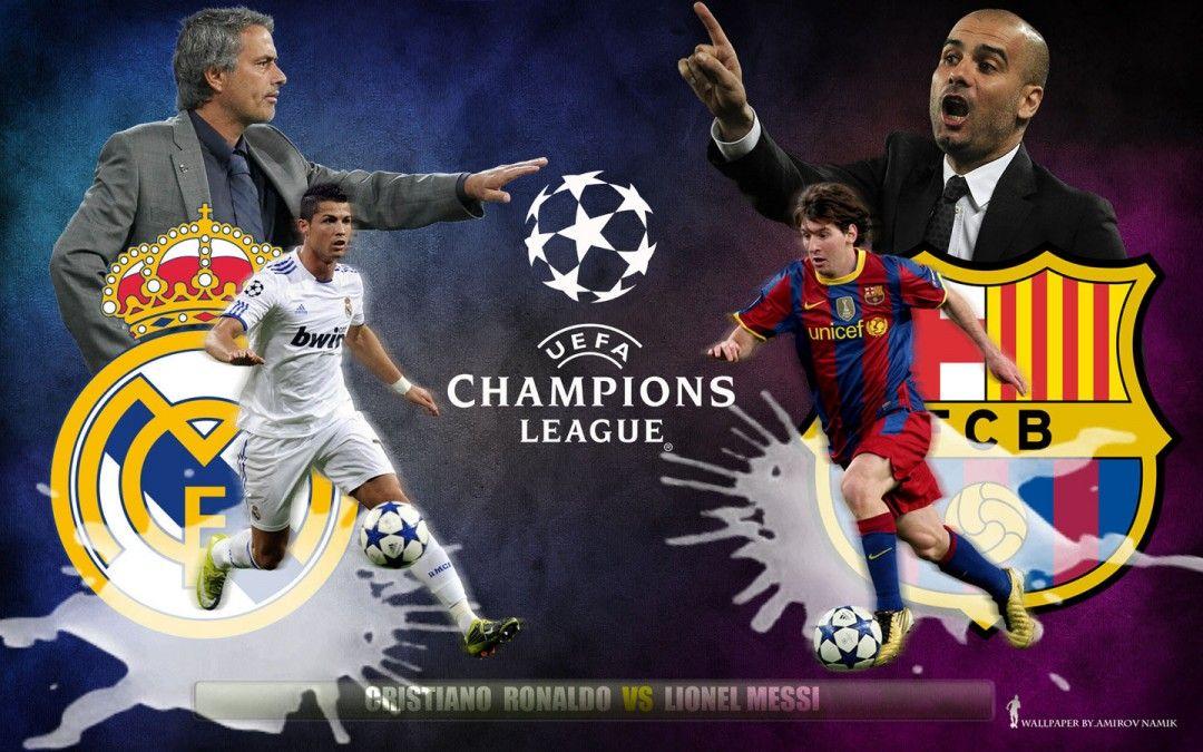 Cristiano Ronaldo vs Lionel Messi HD Wallpaper of Football