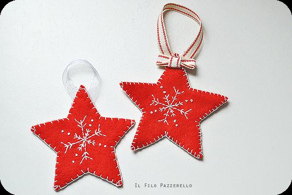 {DIY Xmas} Stelle di Natale in pannolenci   Il Filo Pazzerello