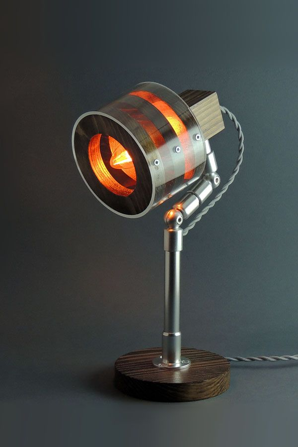 Desk Lamp Lp 16 B Table Lamp Steampunk Lamp Wooden Lamp Edison Lamp Unique Lamp Industrial