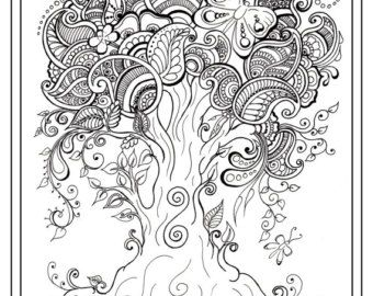 Adult Colouring Book Eight Pages For Adults And By Gwendaviesart