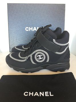 Chanel Sneakers Sneaker High Tops Black Athletic  a5577e39861