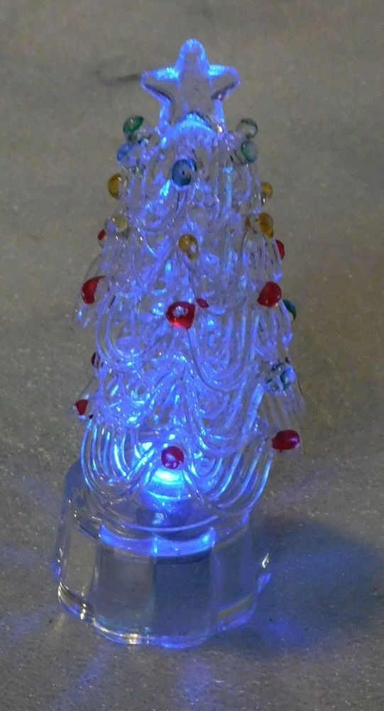 glass christmas tree ornaments star light up clear base 375 inch holiday