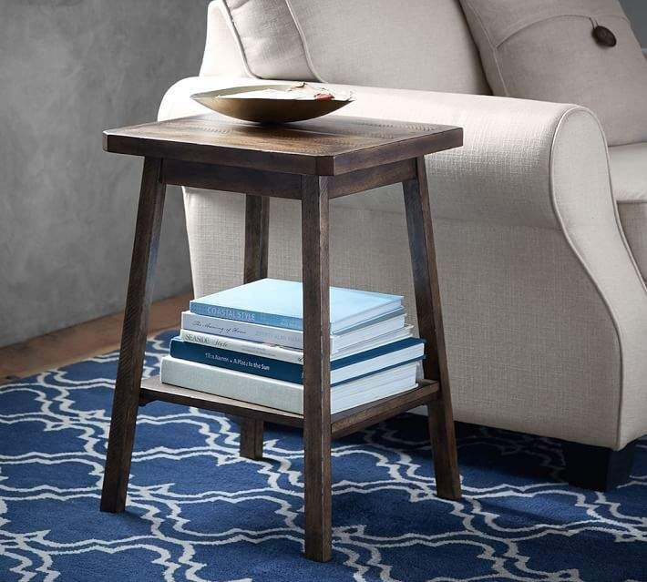 Solid Wood Nesting Tables Pottery Barn: Pottery Barn Mateo Side Table (With Images)