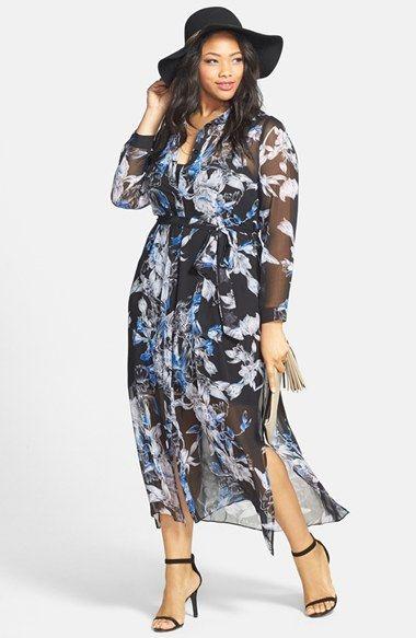 Plus Size Maxi Dress - City Chic Floral Print Maxi Dress (Plus Size ...