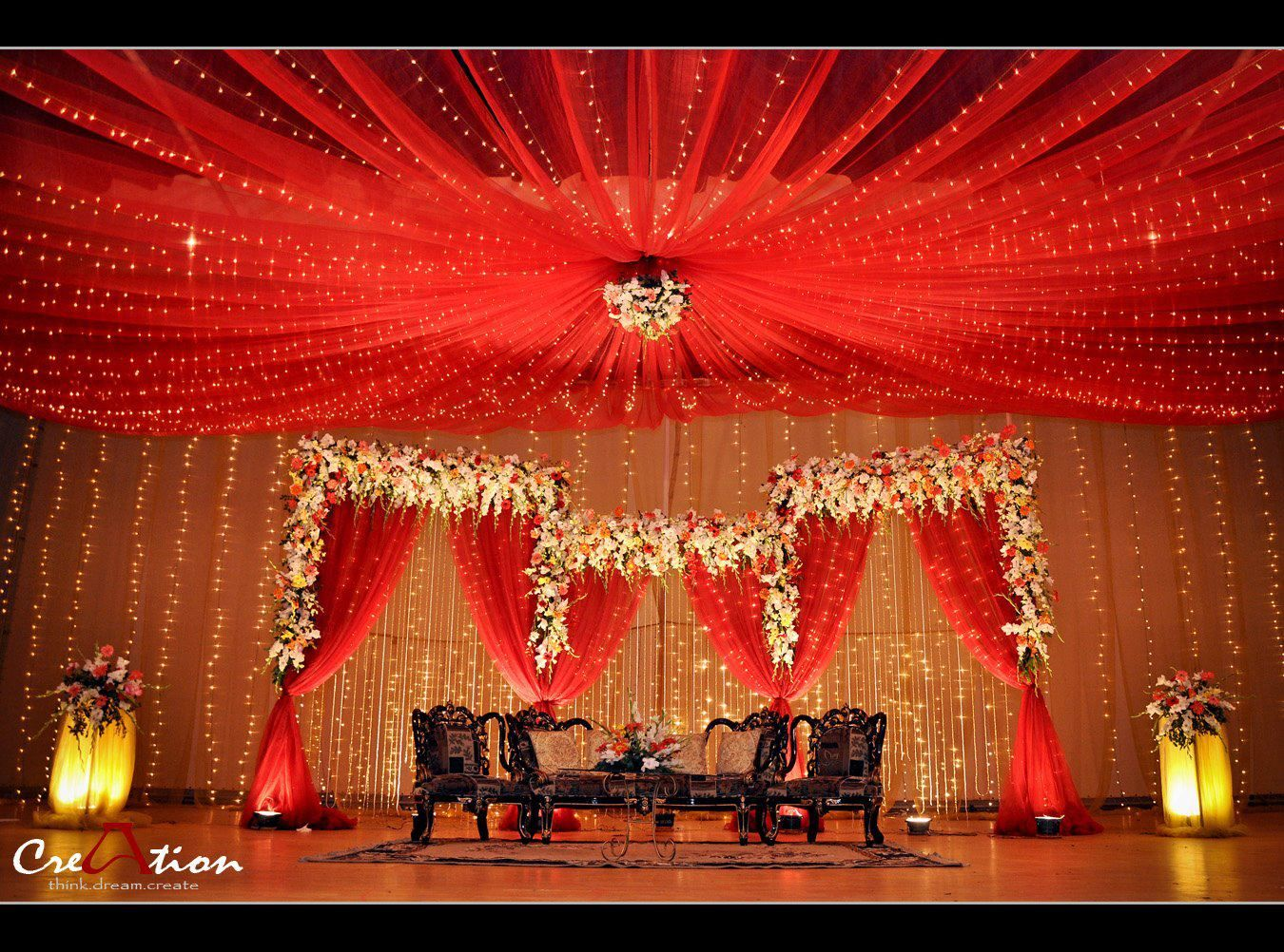 Bengali wedding stage https for Background stage decoration