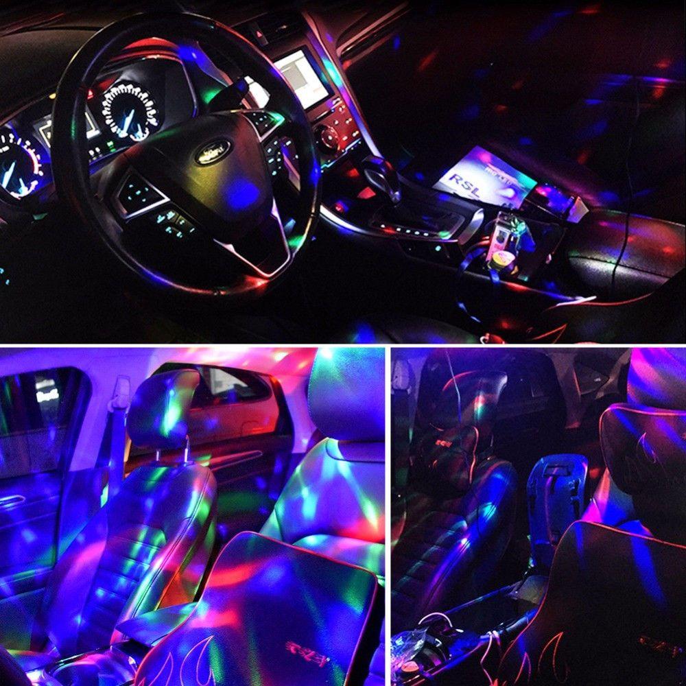 Magic Christmas LED Car Interior Atmosphere DJ Neon Lights LED Car