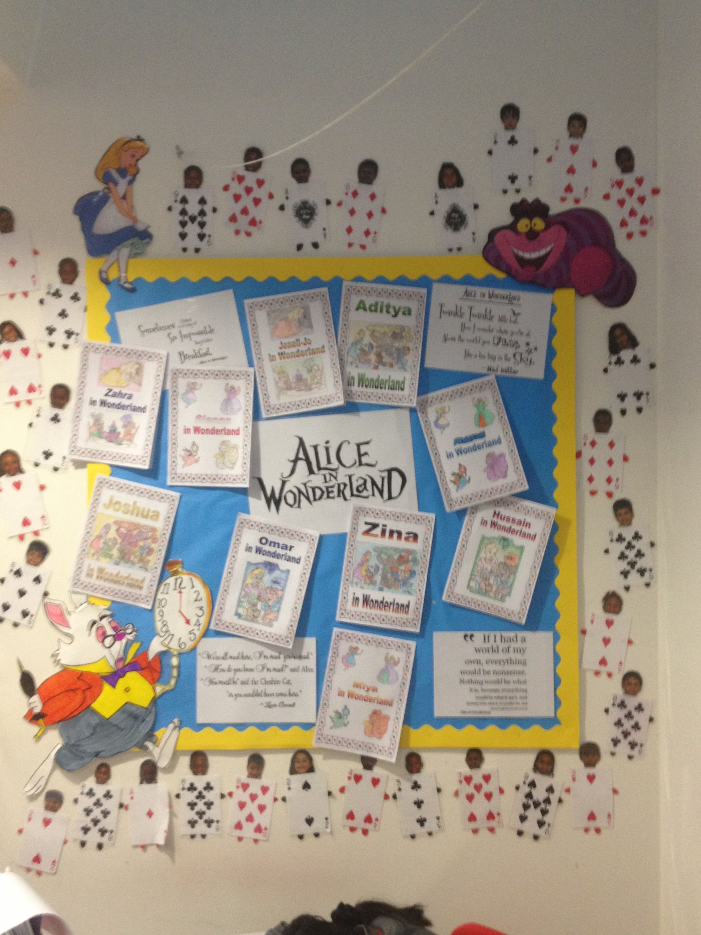 Alice In Wonderland Display Disney Classroom Alice In