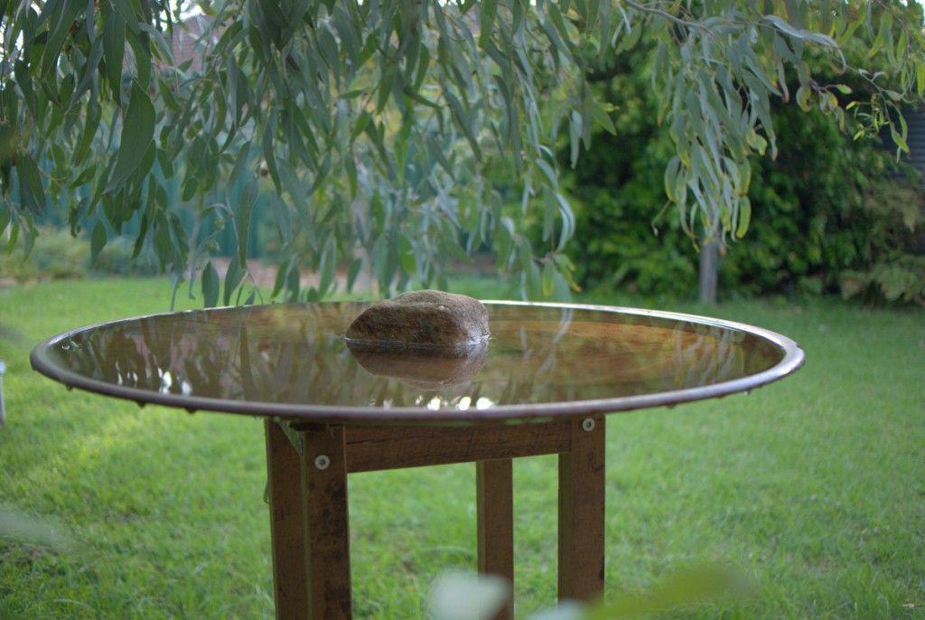 Spun copper bird bath by mallee design australian native for Garden features australia