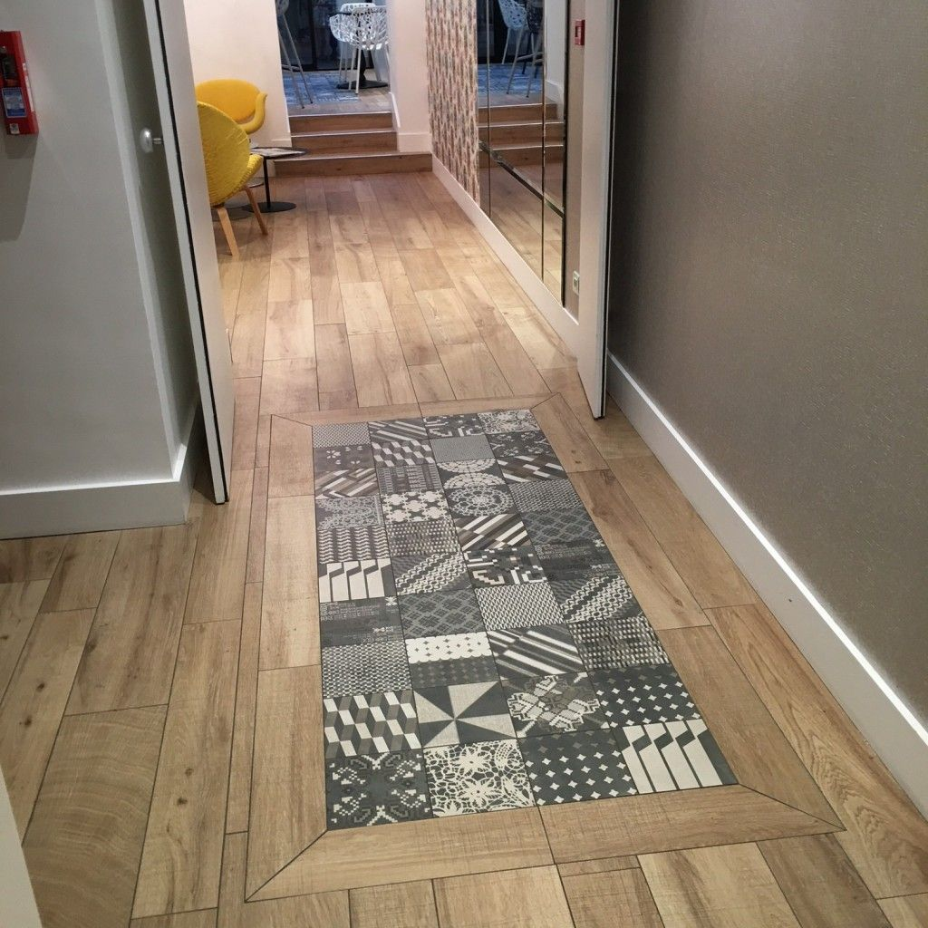 Hotel elysee 8 stratifie carreaux ciment parquet entr e for Carrelage ciment