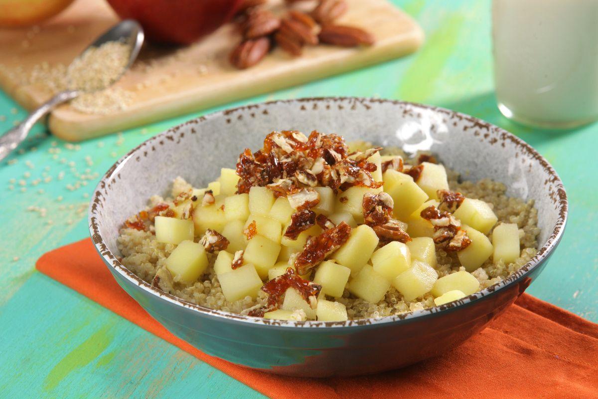 Qu noa con manzanas a la canela receta cocina sin for Como se cocina la quinoa para ensalada