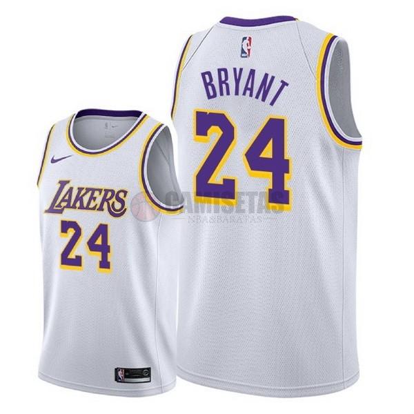 Camisetas NBA Nike Los Angeles Lakers NO.24 Kobe Bryant Blanco ...