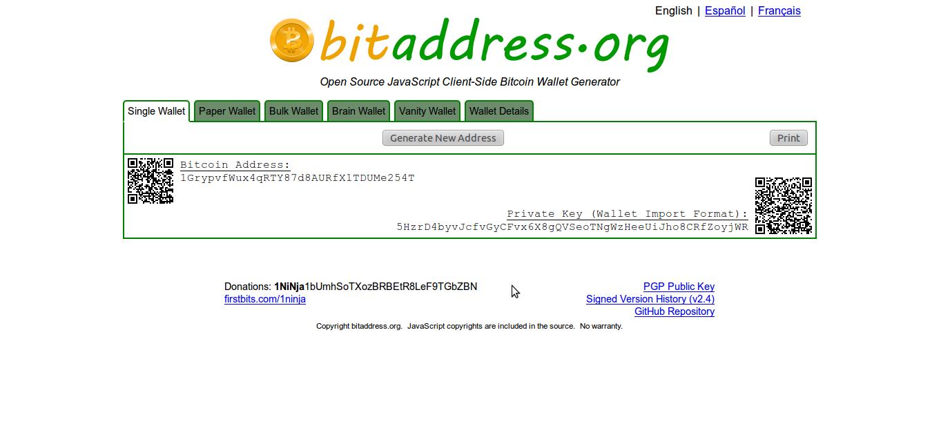 Bitcoin Brainwallet Generator