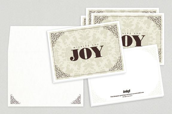 Elegant Holiday Greeting Card Template - A beautiful and ornate - greeting card template