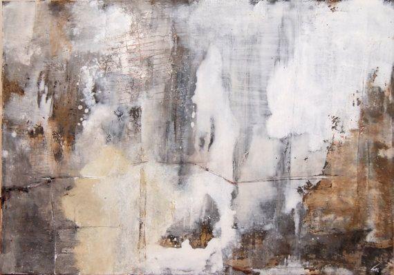 Abstraktes Acrylgemalde In Schwarz Weiss Grau Und Rot Abstrakt Bild Grau Acrylgemalde