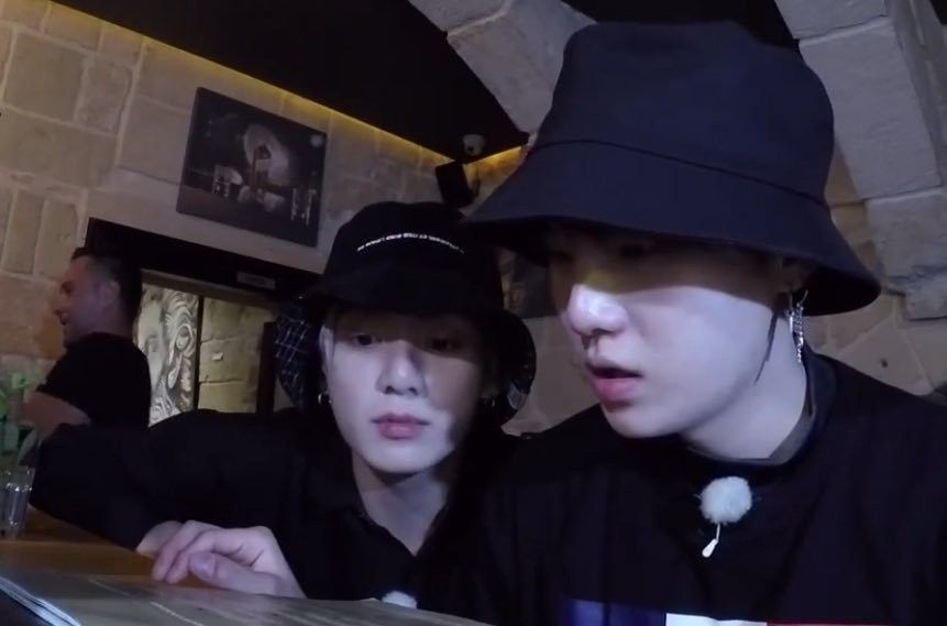 Kookie Learning How To Drink From Yoongi Grandpa Hats Bucket Hat Yoongi
