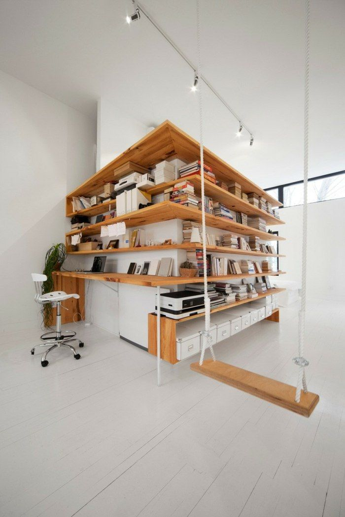 Regal Design Holz Schreibtisch Schaukel Burostuhl Buro Pinterest