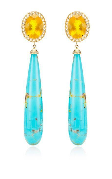 Fire Opals & Rosecut Diamond Earrings