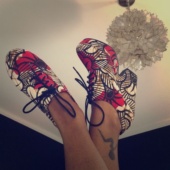 Urban Outfitters Shoes - African Wax Print Platform Shoes