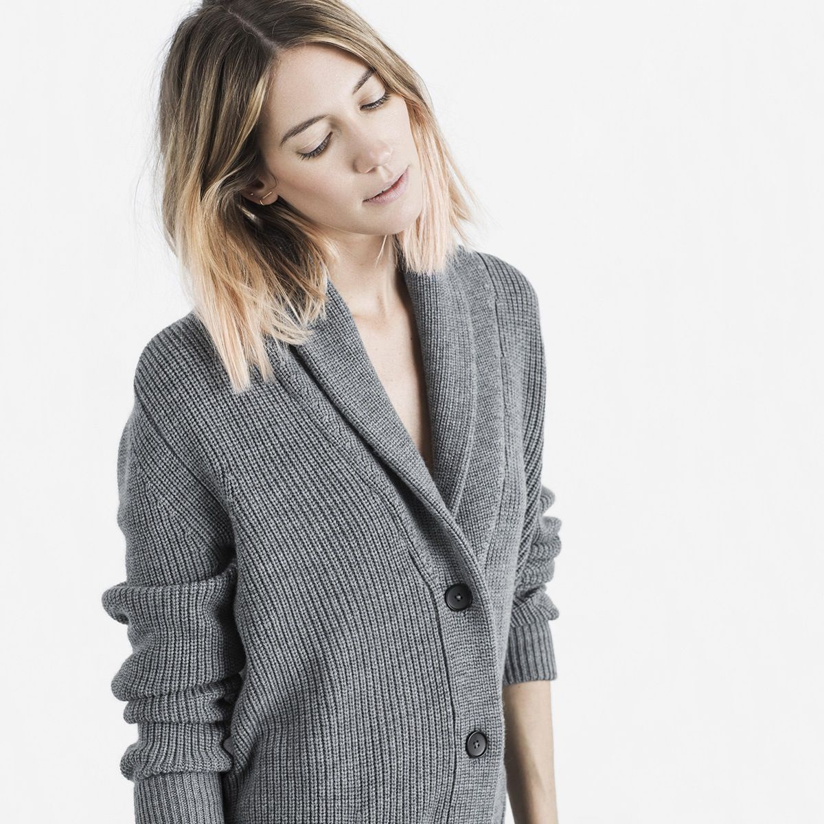 The Ribbed Wool-Cashmere Oversized Cardigan | Chunky knit cardigan