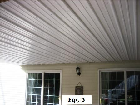 Metal Roofing Under The Deck For A Dry Lower Deck Metal Roof