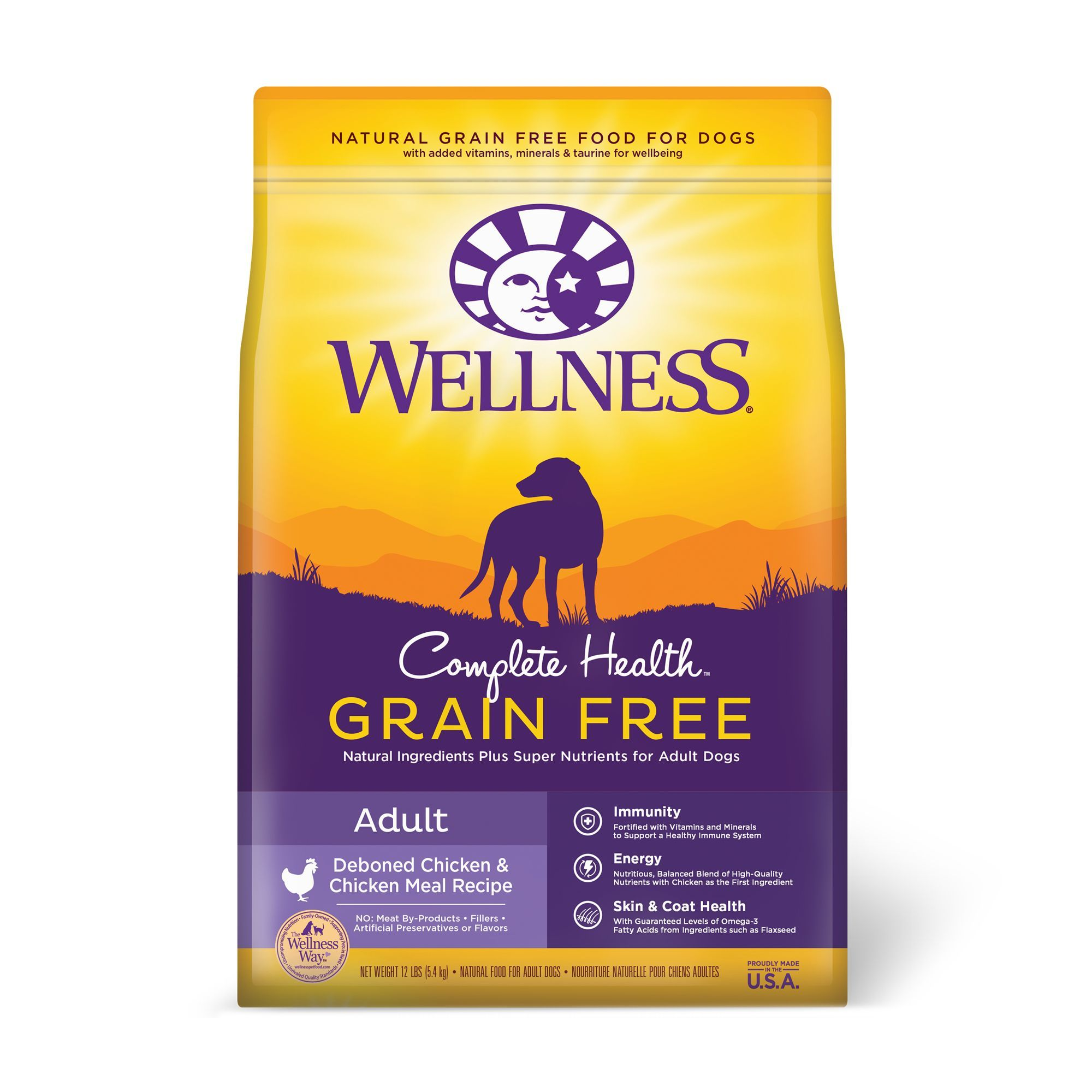Wellness Complete Health Adult Dog Food Natural Grain Free