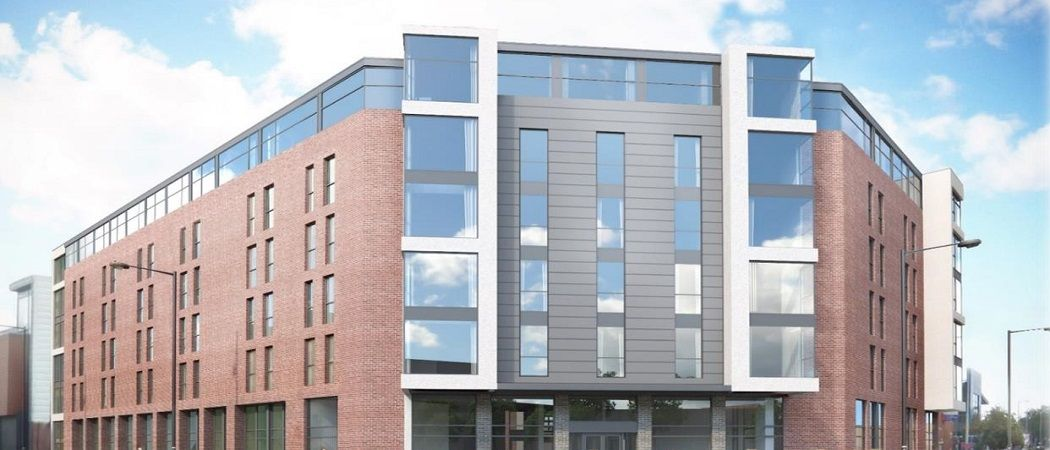 Here you will find the latest progress reports and images for the construction of the Sky Building in Newcastle Under Lyme, UK. Sky Building is a brand new development due for September 2017. This stunning, purpose built student accommodation building in Newcastle Under Lyme is the place to be for students studying in the city.