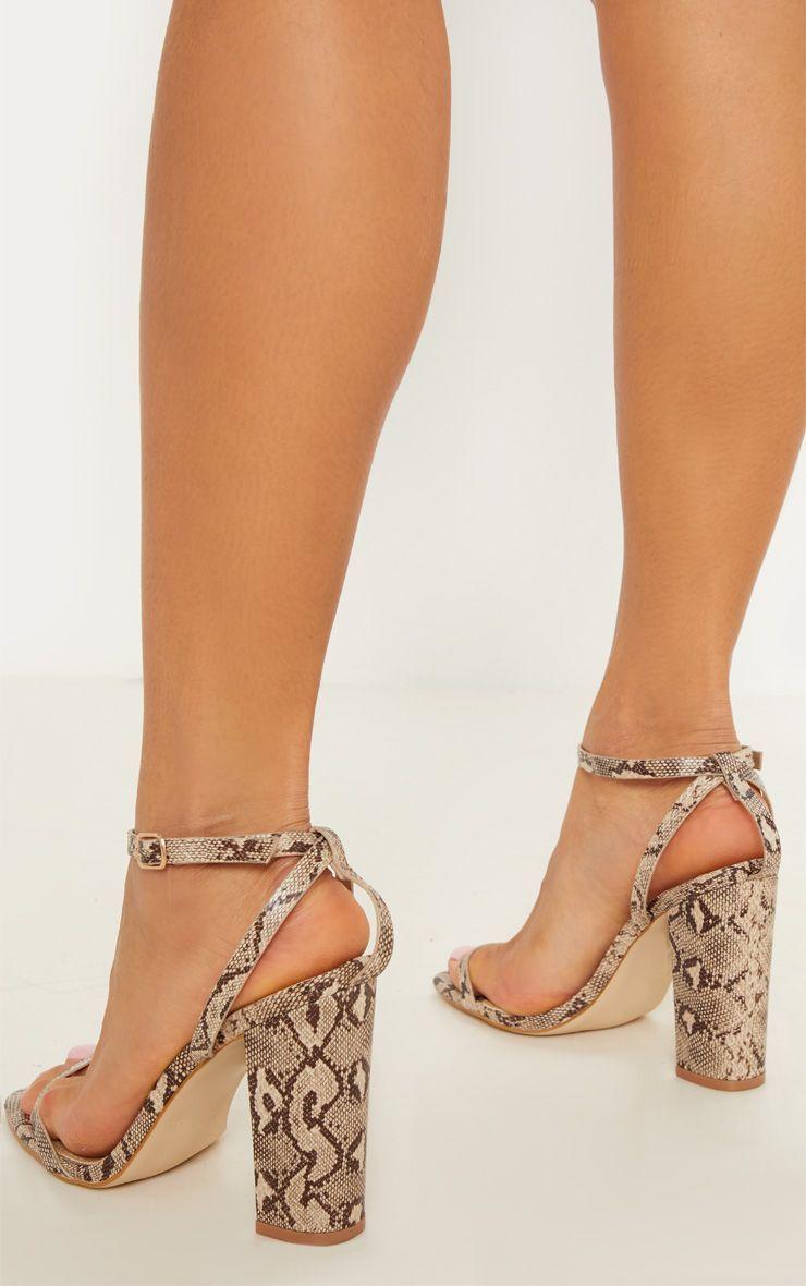 5982e82640573 Snake Square Toe Block Heel Sandal in 2019 | Products | Block heels ...