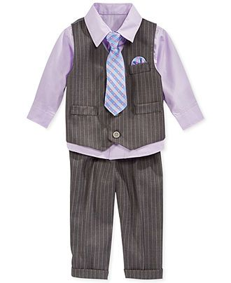 Nautica Baby Boys' 4-Piece Herringbone Vested Suit Set - Kids Dresses & Dresswear - Macy's