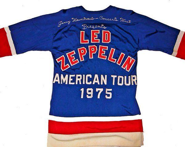 Led Zeppelin's 1975 American Tour Hockey Jersey  @BBC6Music   via @MurrMarie