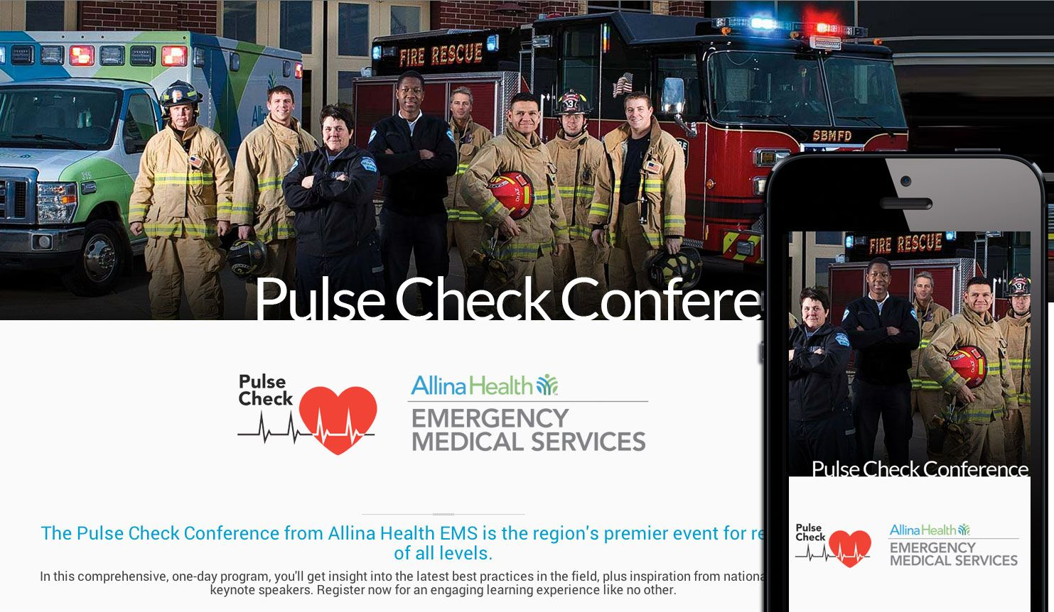 The Pulse Check Conference From Allina Health Ems Is The Region S Premier Event For Responders Of Al Emergency Medical Allina Health Emergency Medical Services