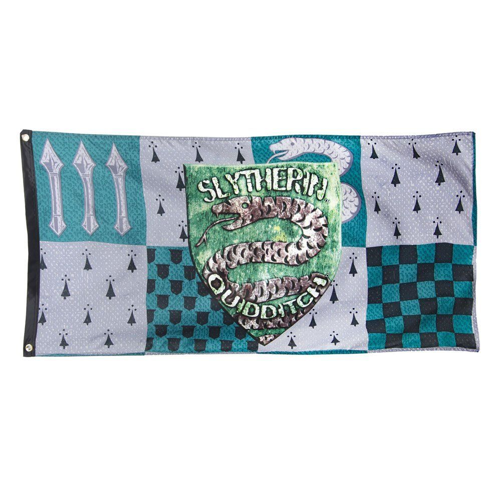 Harry Potter Slytherin Quidditch Banner Amazon.co.uk
