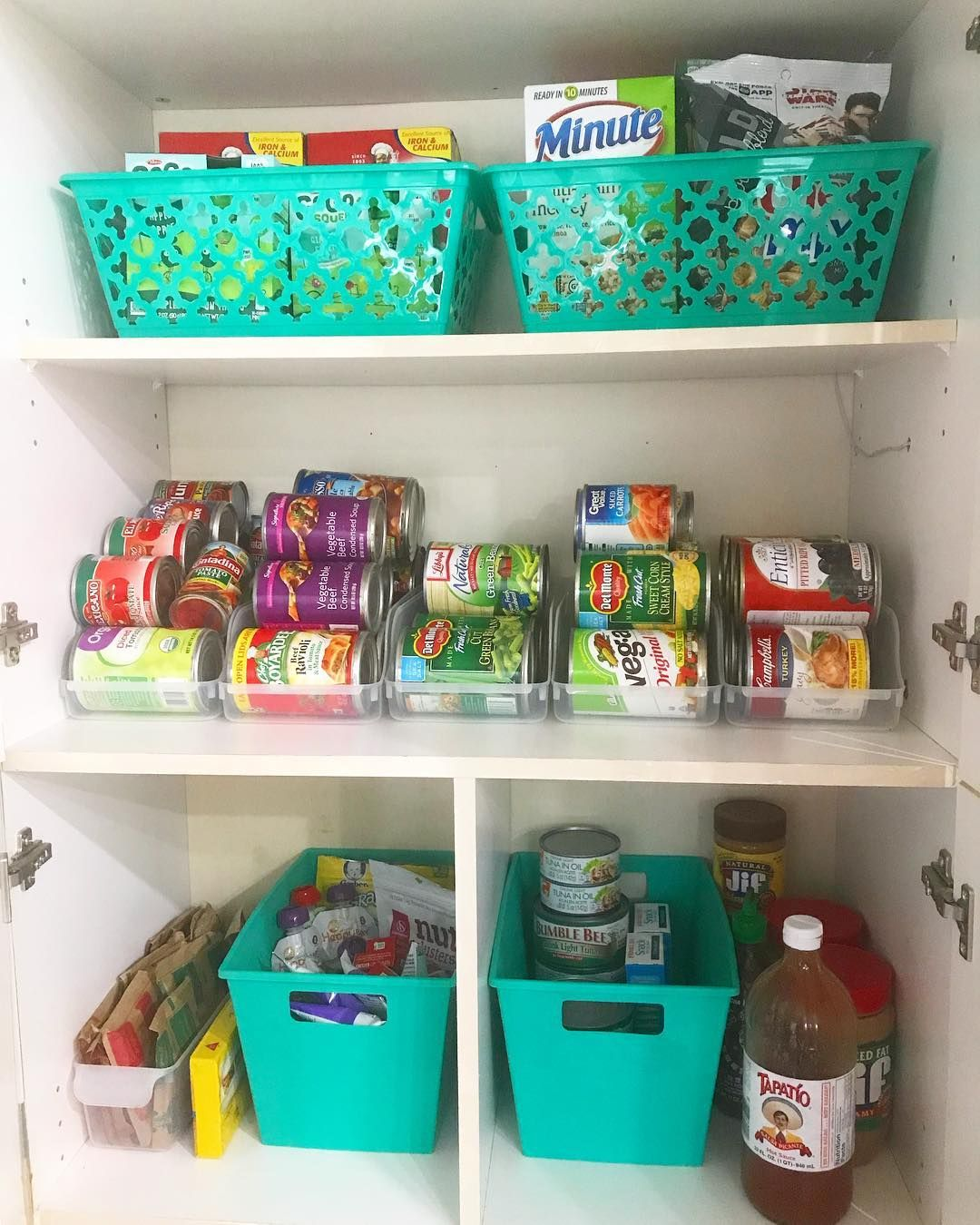 Using The Dollartree Fridge Soda Can Storage Bins For My Canned Food What Do You Think Dollartree Dollartreeobsesse Storage Bins Canned Food Can Storage