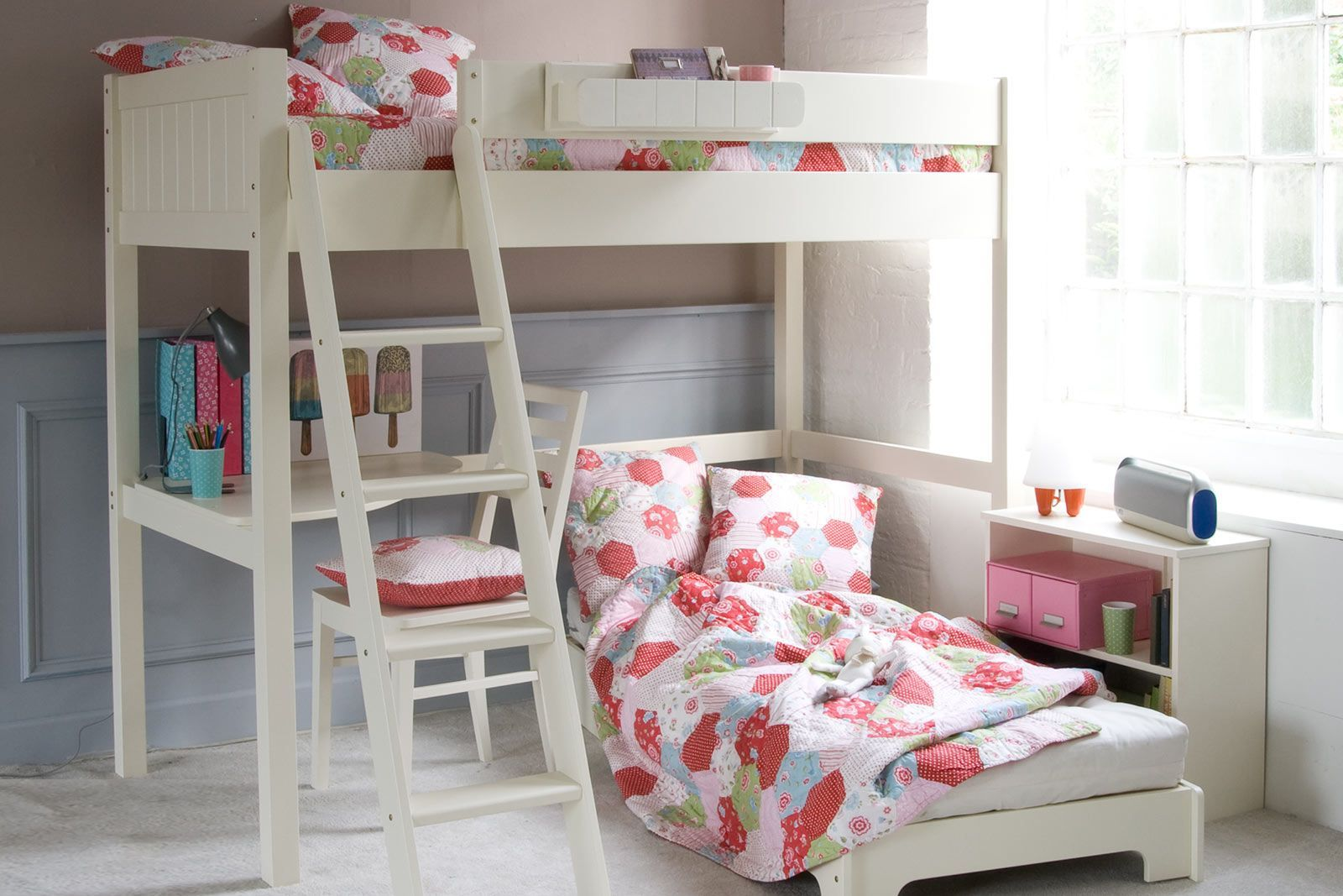 Fargo High Sleeper Loft Bed With Futon