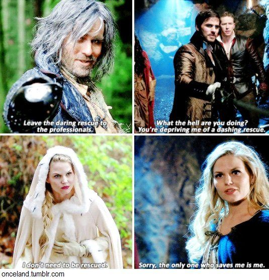 But she has no problem when Regina saves her SwanQueen ...