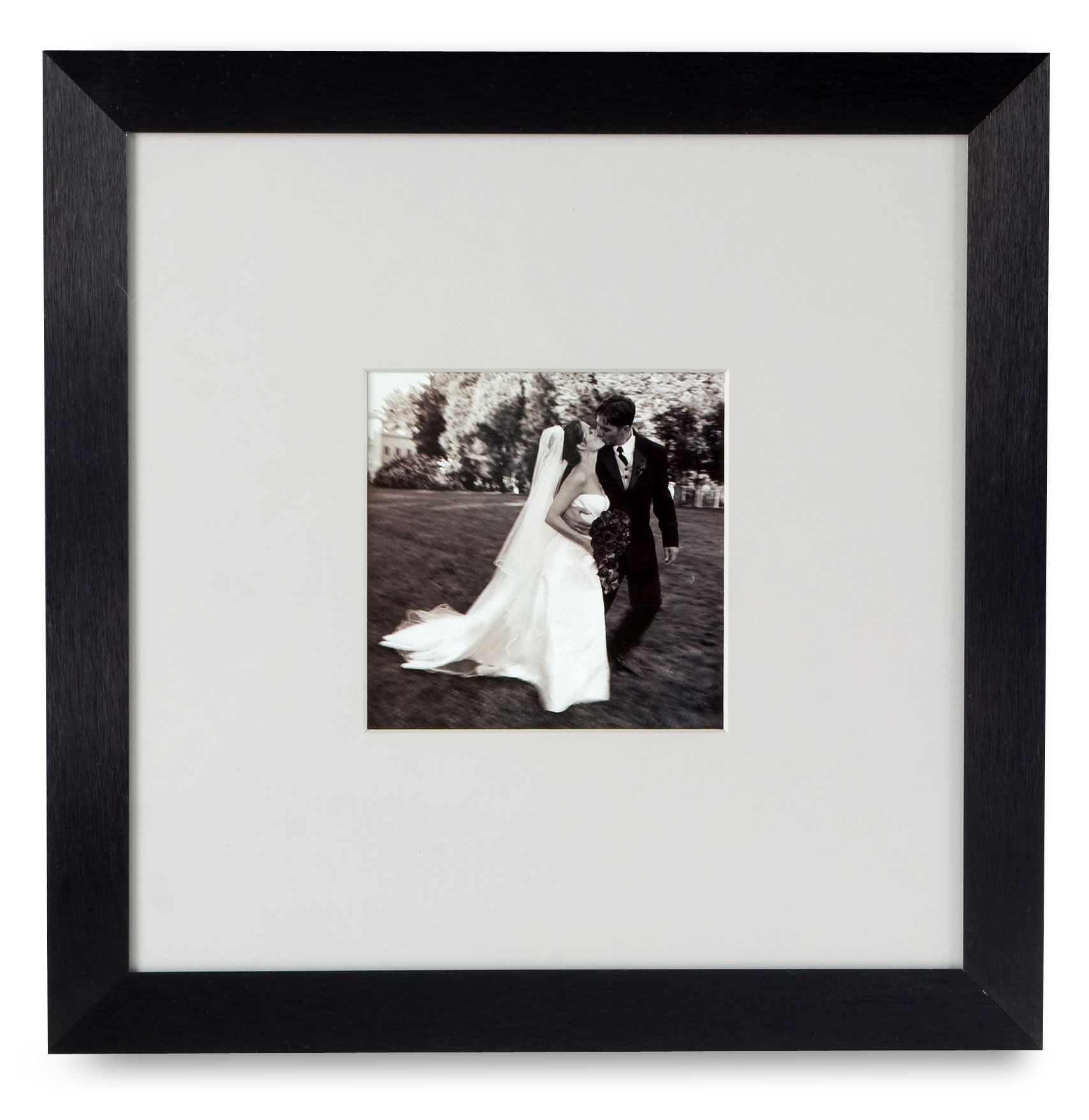 5 x 5 Matted Square Picture Frame for Wall Mount, with White Mat ...