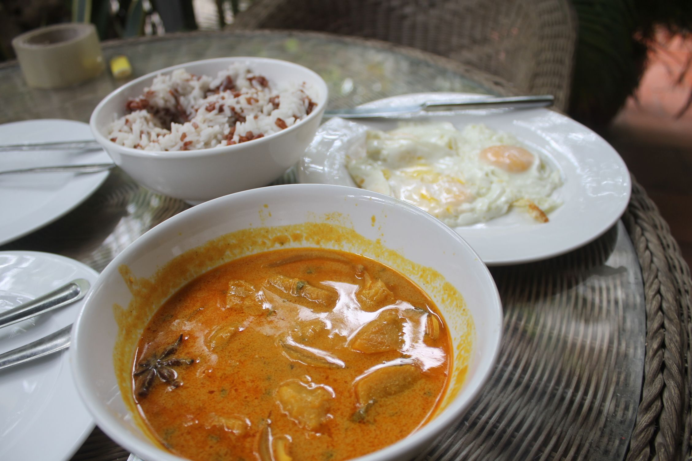 Curry de boniato con calabaza