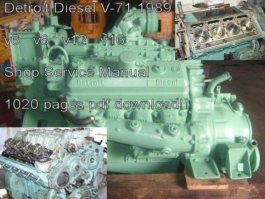 Detroit Diesel V 71 Shop Service Manual V 71 Diesel Engines Detroit Diesel Detroit Diesel Engine