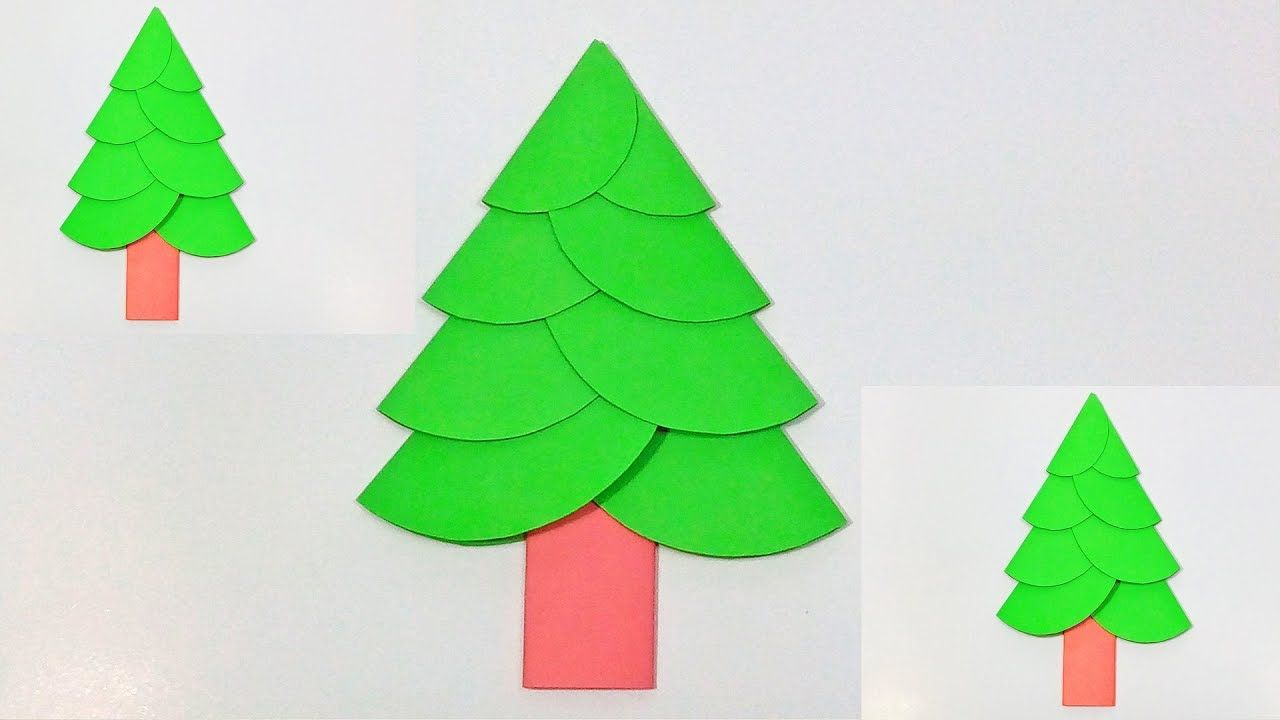 Christmas Paper Tree Origami How To Make A Simple And Beautiful Paper Paper Tree Christmas Paper Paper Christmas Tree