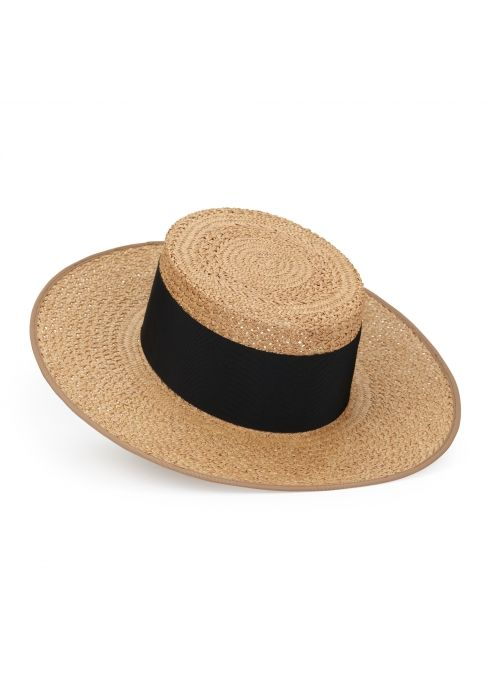 77549112584 Fleur boater - Designed as the women s equivalent of the men s straw  boater