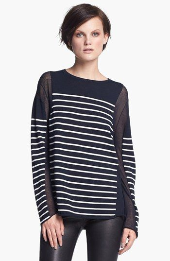 T by Alexander Wang Stripe Pullover available at #Nordstrom